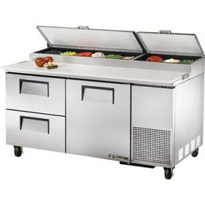 "True TPP-67D-2 67"" Refrigerated Pizza Prep Table"