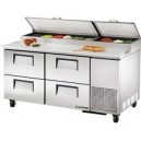 "True TPP-67D-4 67"" 4 Drawer Refrigerated Pizza Prep Table"