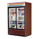 True GDM-61 2 Sliding Glass Door Merchandiser Refrigerator