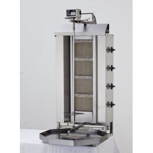 BUDGET 4 Burner Gas Shawarma / Gyro Machine Model KLG221 Stainless Steel