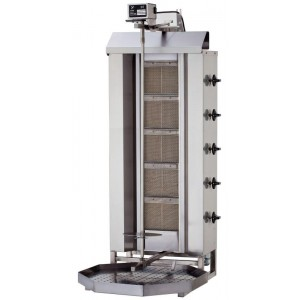5 Burner Gas Shawarma / Gyro Machine Model KLG222 Stainless Steel