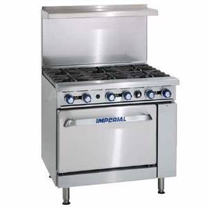 IMPERIAL 6 BURNER RANGE W/ CONVECTION OVEN MODEL IR-6-C