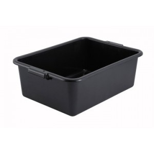 "NEW WINCO DISH BOX 7"" BLACK"