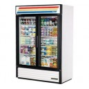 True GDM-49 2 Door Glass Swing Merchandiser Refrigerator